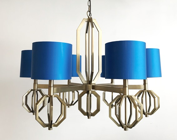 Metal and textile chandelier